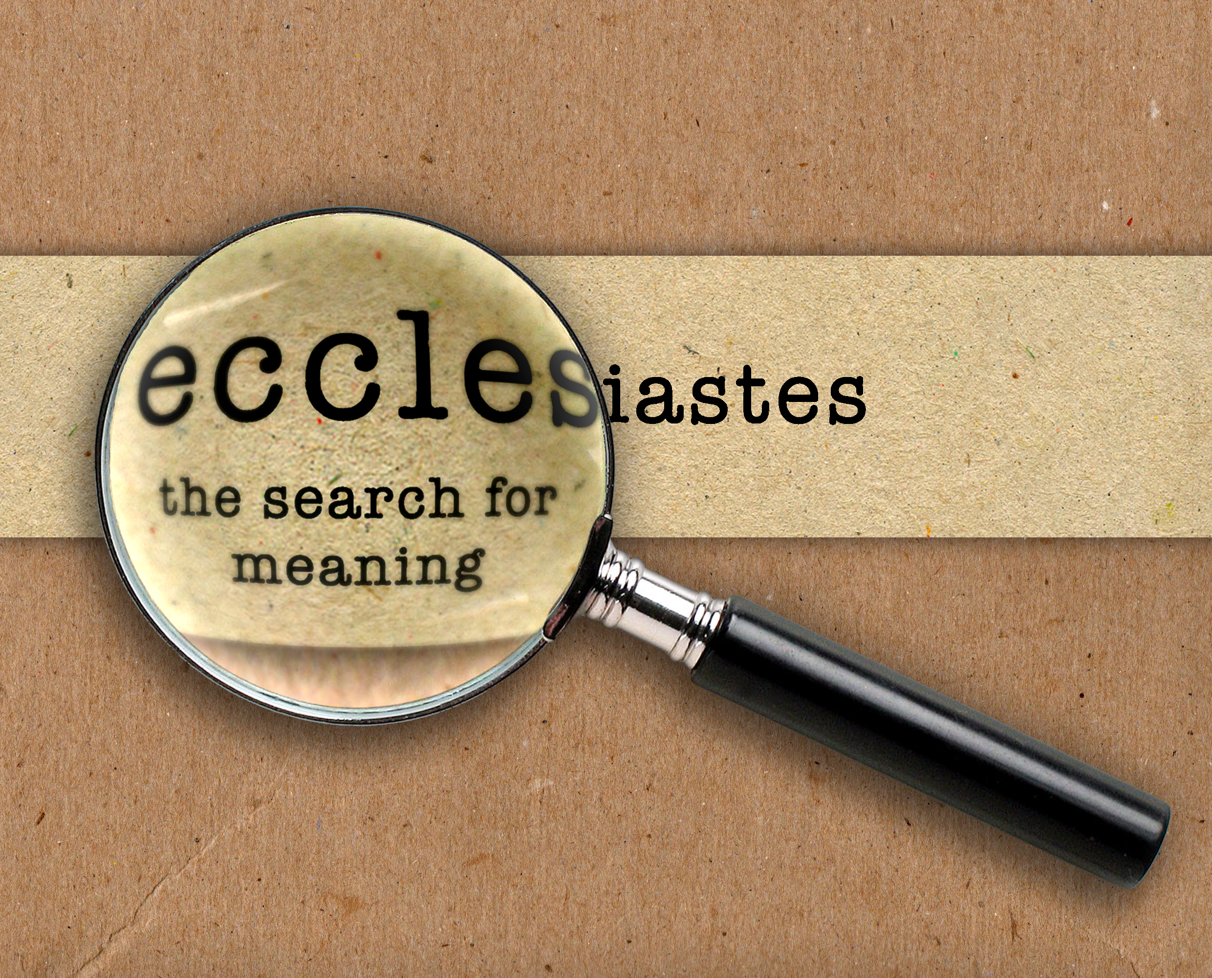 an analysis of the interpretation of ecclesiastes The name ecclesiastes—literally, member of an assembly, often thought to mean (after jerome)  mystical interpretation of the book began fairly early.